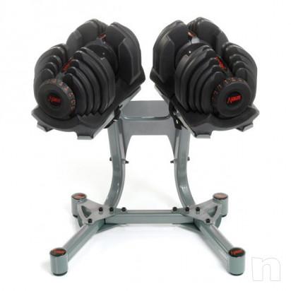 Panca multifunzioni bodysolid + pesi DKN graduati 45 kg +torretta di sostegno pesi bowflex foto-32318