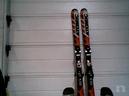 Sci h 1.40 Atomic e scarponi n. 38 Atomic per ragazzo usati ma in buone condizioni. foto-32670