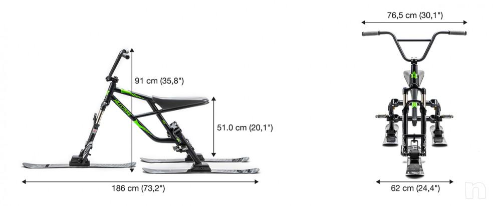 Snowtrike rev-17 Apple Green Ski Trike con BMX Feeling Nuovo foto-17179