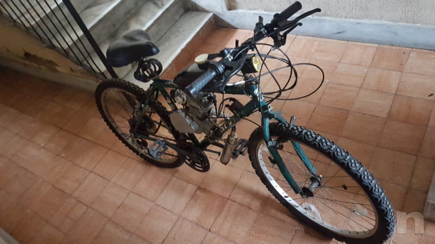 Bicicletta con motore a scoppio foto-32928