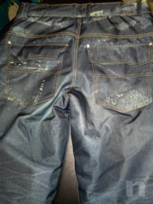 Pantaloni da sci uomo effetto jeans foto-33673