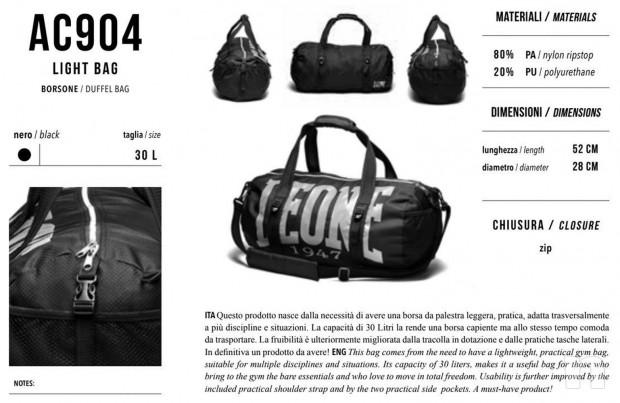 BORSONE LEONE LIGHT BAG AC904 borsa palestra foto-17885