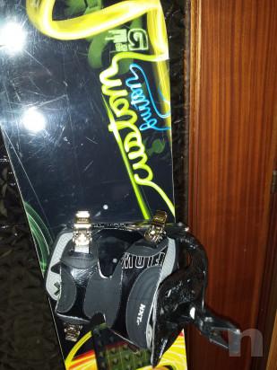 Tavola snowboard Burton Custom 158 attacchi e scarponi Flow foto-17936