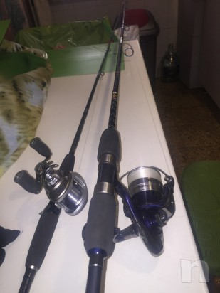 5 canne da pesca (3 da fondo è 2 da spinning) foto-1834
