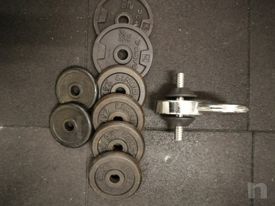 Dischi gommati palestra bilancieri manubri foto-35566