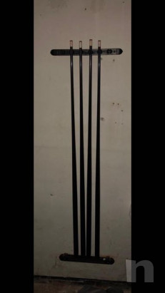 Tavolo/biliardo legno laccato nero con attrezzatura completa foto-37117