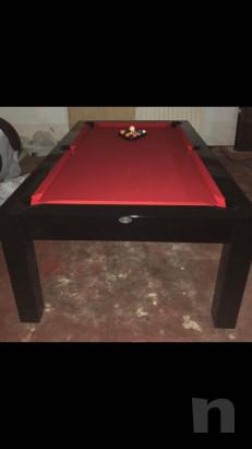 Tavolo/biliardo legno laccato nero con attrezzatura completa foto-37116