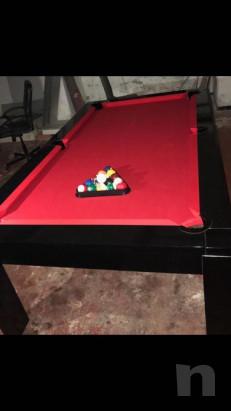 Tavolo/biliardo legno laccato nero con attrezzatura completa foto-37115
