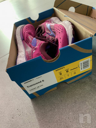 Scarpe running BROOKS TRANSCEND 6 DONNA Rosa-Blu - NUOVE!!! foto-37539