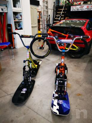 Snowscoot snow scoot moto bici sci da neve dh downhill freeride free ride snowmoto  foto-39658