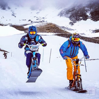 Snowscoot snow scoot moto bici sci da neve dh downhill freeride free ride snowmoto  foto-20318