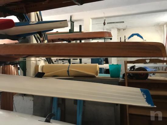 vendo canoino (imbarcazione da canottaggio) singolo in legno foto-41445