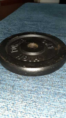 Vendo ciclette piu' 2 dischi da 5kg foto-42987