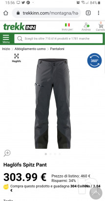 Haglofs SPITZ Pantaloni Gore-Tex Guscio, taglia L foto-43038