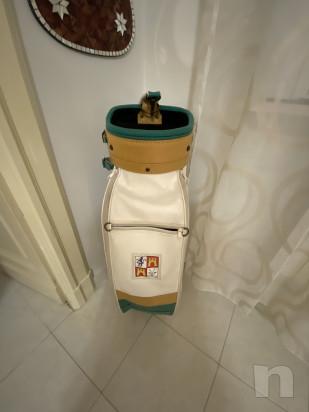 Sacco Golf Lion da collezione, vero cuoio è vera pelle, In perfette condizioni  più set mazze  foto-43134
