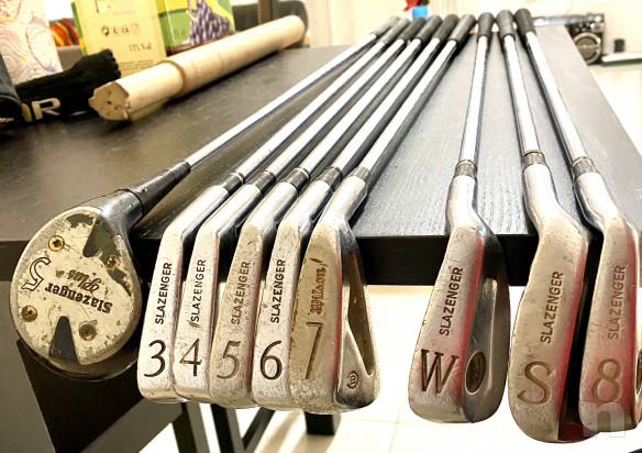 Sacco Golf Lion da collezione, vero cuoio è vera pelle, In perfette condizioni  più set mazze  foto-43135