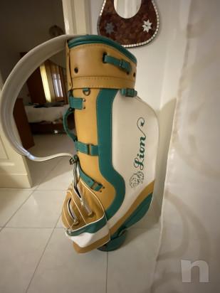 Sacco Golf Lion da collezione, vero cuoio è vera pelle, In perfette condizioni  più set mazze  foto-21945