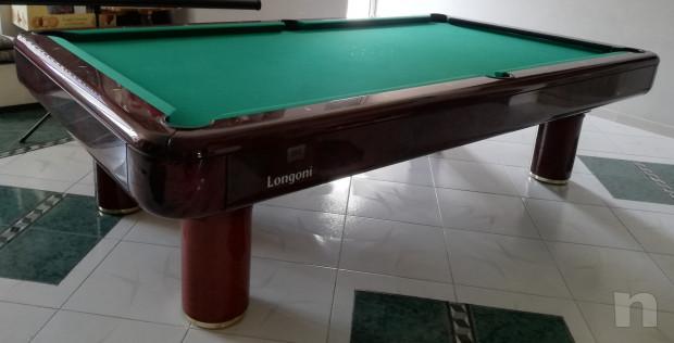 Tavolo da biliardo Longoni in mogano compreso di accessori foto-22691