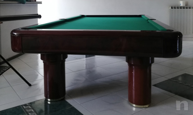 Tavolo da biliardo Longoni in mogano compreso di accessori foto-44751