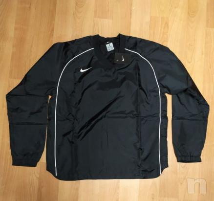 Giacchetta leggera da allenamento outdoor stile Kway, nera, Nike, nuova foto-23030