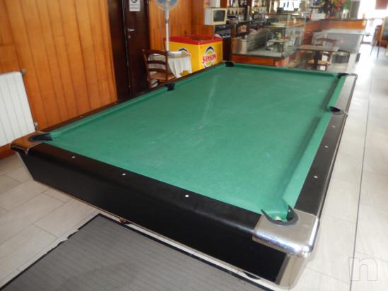 Tavolo da biliardo semiprofessionale per pool dimensioni internazionali 285x160x80 cm , piano gioco 254x127 cm, usato da 2 anni foto-45466