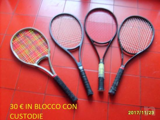 4 racchette tennis non  usate con custodie foto-23680
