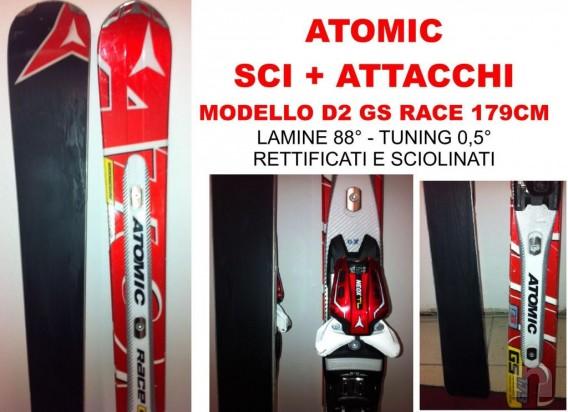 VENDO SCI Atomic D2 Race GS 179 cm + ATTACCHI ATOMIC NEOX TL 12 SKI SCI SCI IN OTTIME CONDIZIONI foto-2369