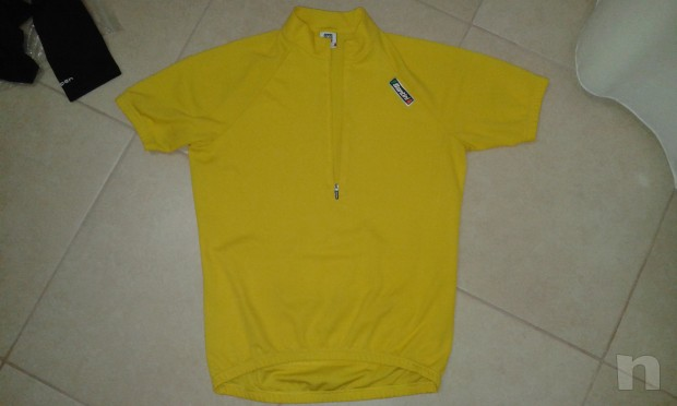 maglia ciclismo santini a mezze maniche colore giallo foto-2795