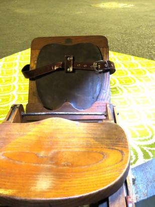 Vogatore d'epoca in legno massello foto-4891
