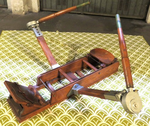Vogatore d'epoca in legno massello foto-2819