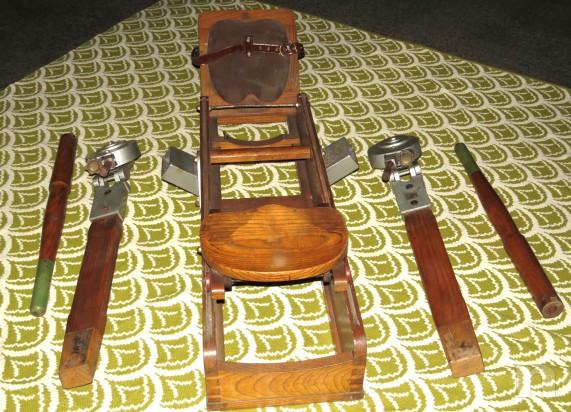 Vogatore d'epoca in legno massello foto-4889
