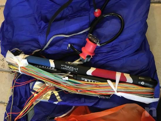 Kite vela mq.8 hq neo 2 più trapezio e leash foto-4957