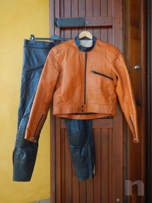 Tuta da Moto Gaman - in Pelle, divisibile, da Donna - Vintage (Tg. 44/46) foto-296