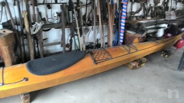 Kayak in legno foto-2983