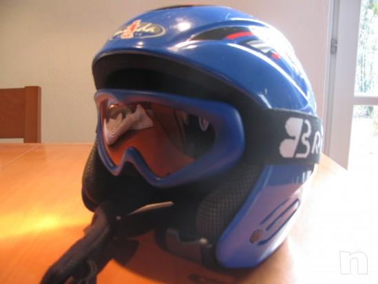 casco da sci bambino con mascherina foto-2986