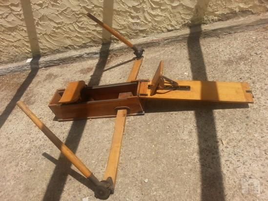 Vogatore antico in legno massiccio richiudibile  e perfettamente funzionante foto-5273