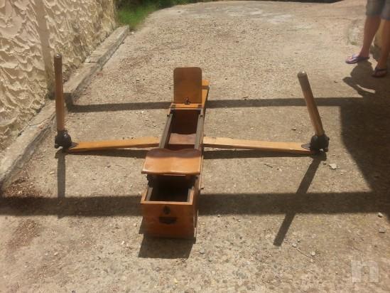 Vogatore antico in legno massiccio richiudibile  e perfettamente funzionante foto-5276