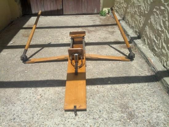 Vogatore antico in legno massiccio richiudibile  e perfettamente funzionante foto-3019