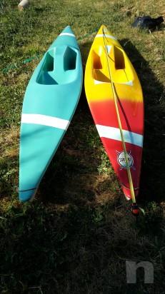 coppia canoe con pagaie foto-3148