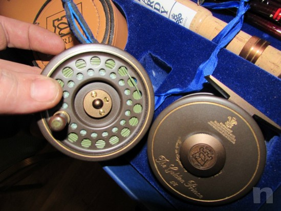Hardy Angler compleat Pesca Set Golden Prince Reel Smuggler Deluxe Rod Nuovo foto-6455