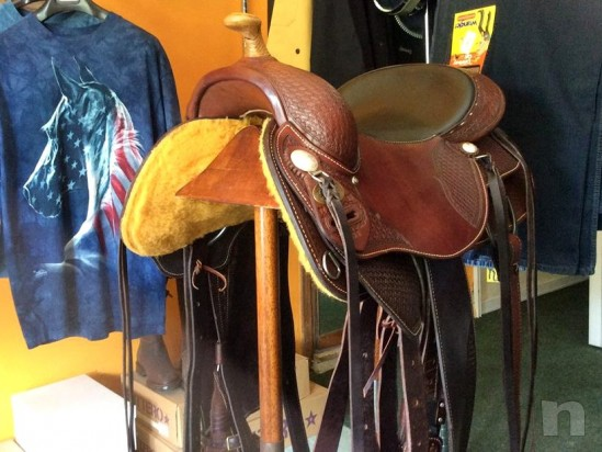SELLA WESTERN DOUBLE C SADDLERY MADE U.S.A.. foto-7064