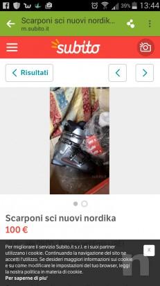 scarponi sci nordica nuovi n.41 scarponi nordica n.44 scarponi snobord  n.44 foto-4014