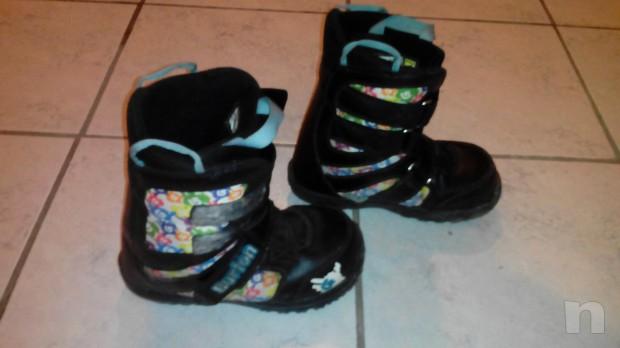 scarponi e attacchi snowboard mis. 33 foto-7095