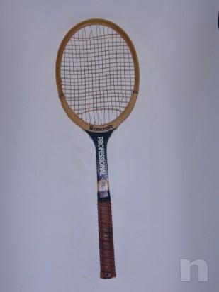 Racchetta da tennis vintage in legno BANCROFT foto-7448