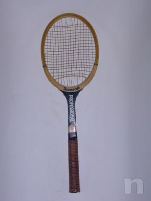 Racchetta da tennis vintage in legno BANCROFT foto-7449