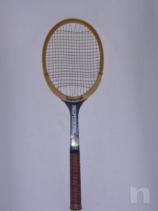 Racchetta da tennis vintage in legno BANCROFT foto-4198