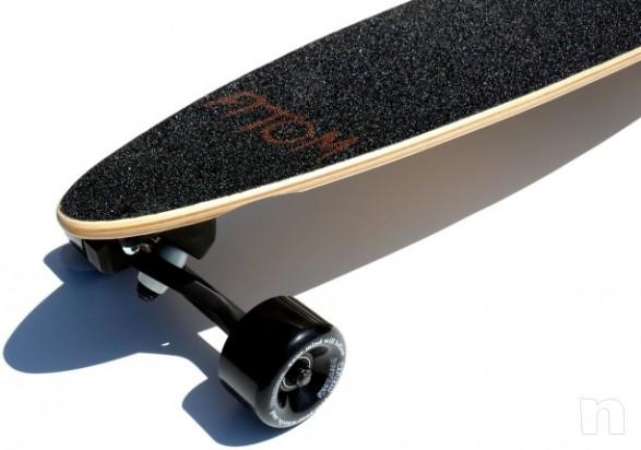 """Atom Longboard Bamboo Pin-Tail Longboard 39"""" Tiki  foto-465"""