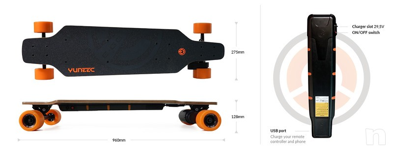 Skateboard Elettrico Yuneec E-GO foto-7764