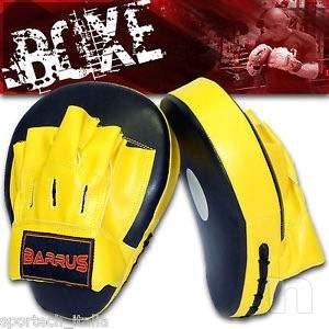 Coppia guanti da passata boxe guantoni thai full NUOVI foto-5362