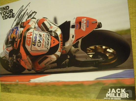 Autografo Jack Miller, pilota Honda moto GP foto-5831